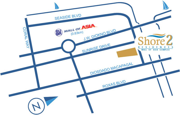 Shore 2 Residences at Mall of Asia Pasay City by SMDC
